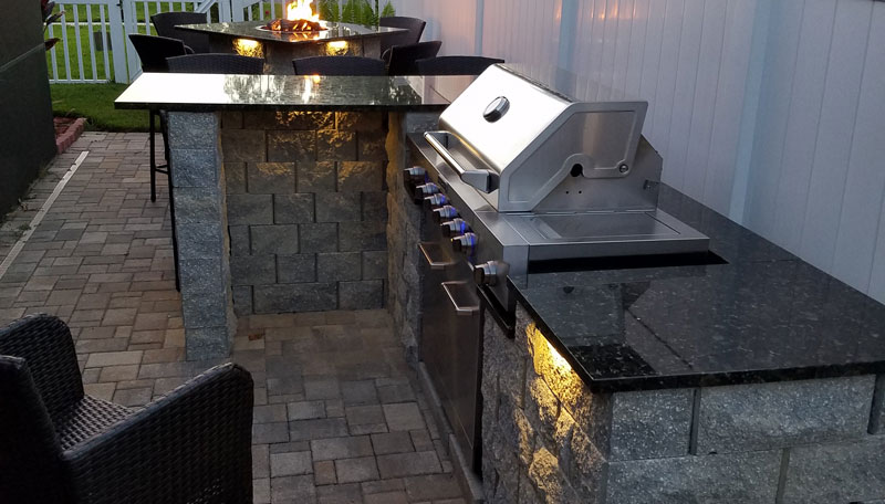 Bbq Grill Surround, Paver Patio, Built In Grill, Granite Countertop, Outdoor  Cooking