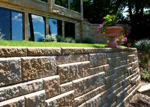 Split Face Retaining Wall