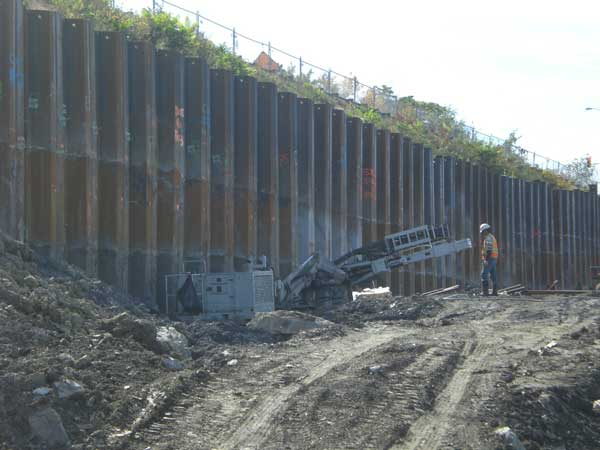 Retaining Wall Project Csx Intermodal Facility