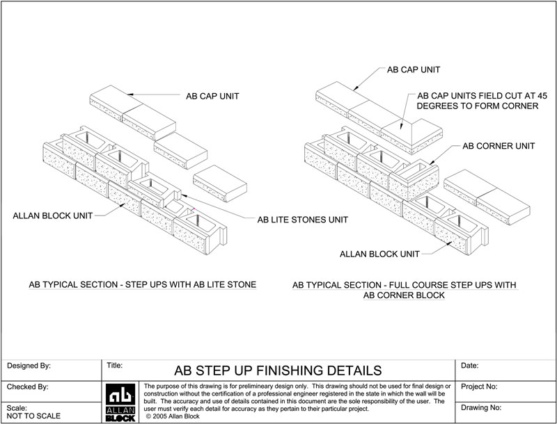 Allan block retaining wall design details retaining wall step down ccuart Image collections