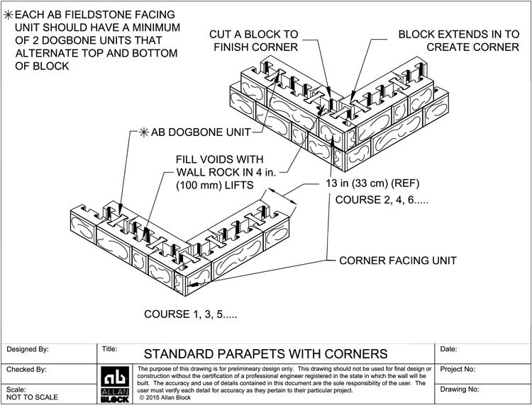 Allan Block Retaining Wall Design Details