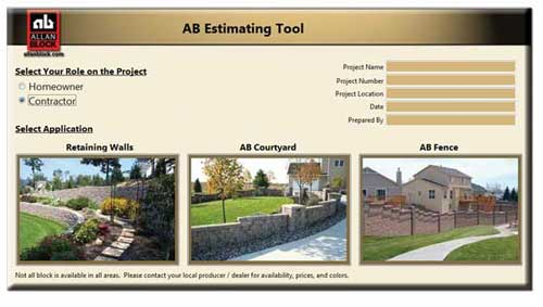 Allan Block Makes It Easy To Estimate Your Materials. Quickly Calculate The  Amount Of Block, Capstones, And Other Materials For Your Retaining Wall,  Patio ...