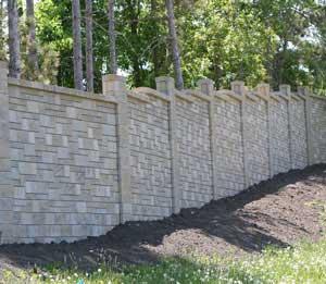 Concrete Fences Designs Concrete block fence fence design tables concrete fence with ashlar pattern workwithnaturefo