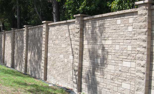 Sound Barrier - Ashlar Pattern AB Fence