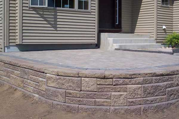 Retaining Walls Make Beautiful Raised Patios