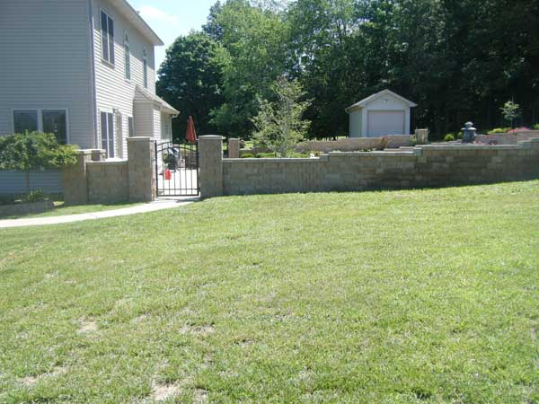 Retaining Wall Solves Backyard Flooding
