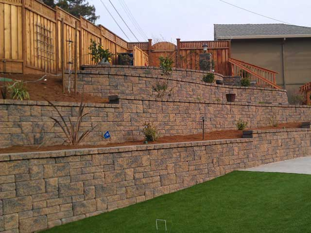 Retaining Wall With Stairs Europa