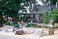 Retaining Walls Create Curb Appeal Transformation