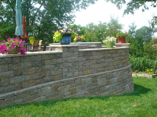 Raised Patio Design Ideas Retaining Walls