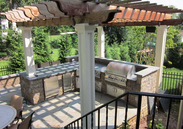 Outdoor Kitchen With Pergola Design Ideas For Rooms