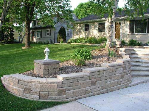 Curved retaining walls in your landscape curved wall with pattern solutioingenieria Images