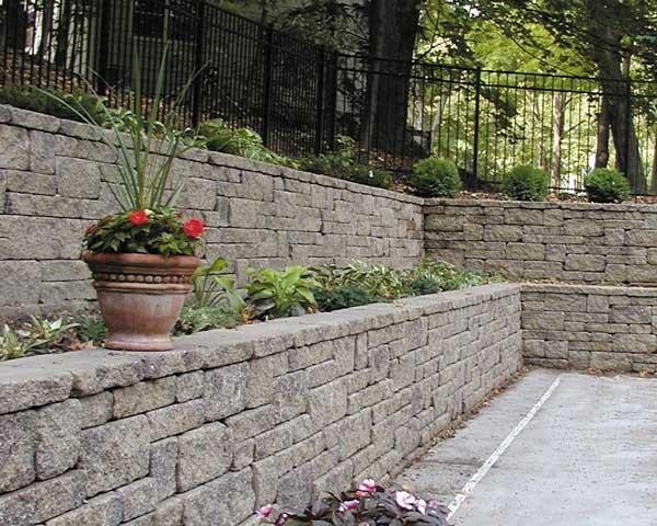 Segmental retaining walls long lasting wall for Garden wall block designs