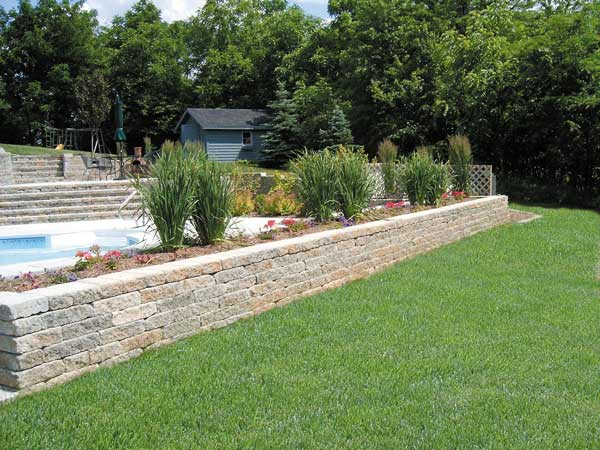 Retaining Wall Around Pool for Pinterest