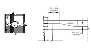 Installing a construction tube for the fence during retaining wall construction