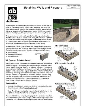 Parapet Tech Sheet