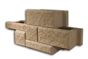 AB Ashlar Blend Pattern Retaining Wall