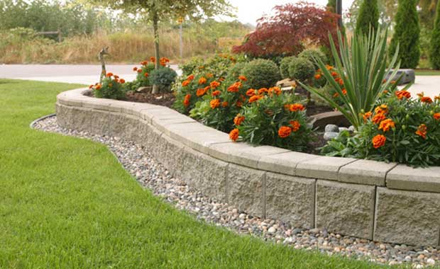 Lokrock Ivory Garden Edging Blocks Shop Wall