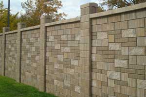 Allan Block Wall Products - Cinder block wall fence ideas