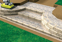 Backfill And Compact Retaining Wall Stair Risers