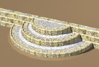 Curved Steps Parallel To Retaining Wall