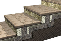 how to build a stairway in a retaining wall