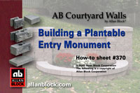 Plantable Entry Monument