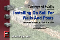 Installing on Soil Walls and Posts